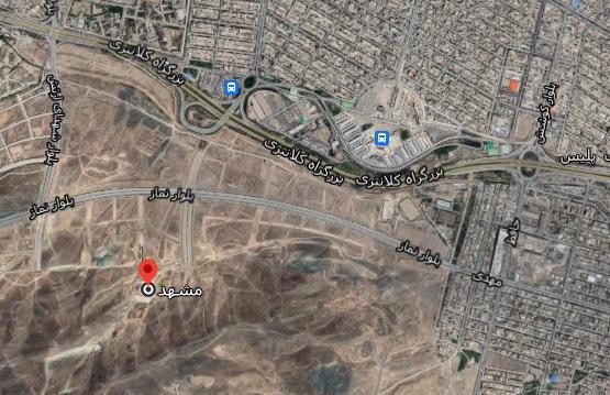 آدرس کوهشار مشهد روی نقشه