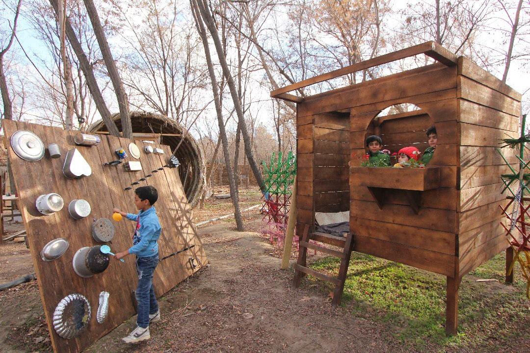 پارک کودکان در باغ گیاه شناسی